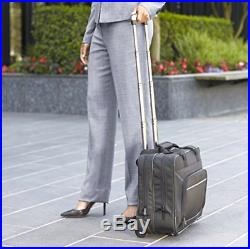 Rolling Laptop Case 17 Wheeled Briefcase For Women Business Carry On Bag New
