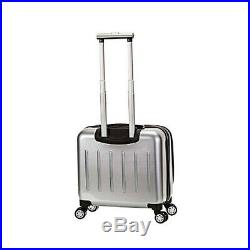 Rolling Silver Laptop Case Carry Spinner Computer Women Men Luggage Wheel Bag