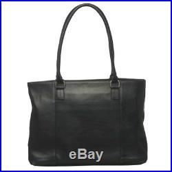 Royce Women's Vaquetta 15 Laptop Tote Bag, Colombian Vaquetta Leather, Black