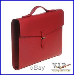 S. T. Dupont Contraste Leder Tasche Aktentasche Laptop Bag Briefcase Case Cartella