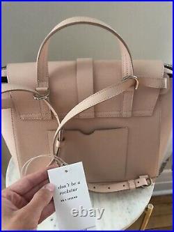 SENREVE Blush Pebble Leather MAESTRA Large FULL Size Laptop Backpack Bag