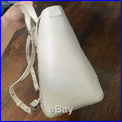 SENREVE Cream Pebble Leather MAESTRA Large FULL Size Laptop Backpack Bag