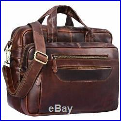 STILORD Challenger Large Shoulder Bag Leather Men Women XL Laptop Bag 15.6
