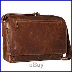 STILORD Jan Vintage Messenger Bag Men Women Satchel 15.6 inch Laptop leather