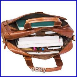STILORD'Jon' Vintage Shoulder Bag Leather Men Women Laptop bag 15.6 inch A4 for