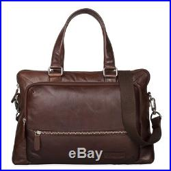 STILORD Lean Shoulder Bag women men large leather business A4 laptop 13.3 inch