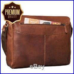 STILORD'Lonzo' Vintage Messenger Bag Leather Men Women 15'6 inch Laptop