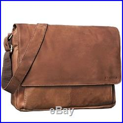 STILORD Lonzo Vintage Messenger Bag Leather Men Women 15'6 inch Laptop Satchel