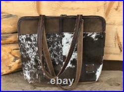 STS Ranchwear Cowhide Laptop Shopper Bag Purse STS35020