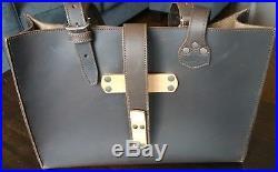 Saddleback Dark Coffee Brown Full Grain Leather Women's Commuter Tote Laptop Bag