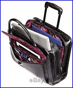 Samsonite Xenon 2 Women's Mobile Office Laptop Bag in Black Rolling Satchel NEW
