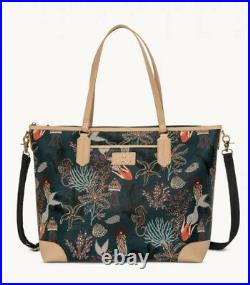 Spartina 449 Mystic Mermaid Tech Computer Tote Carry On Travel Bag Laptop NWT