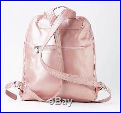 Stunning Blush Pink Leather Backpack Travel Bag, Laptop Bag, Womens Work Bag