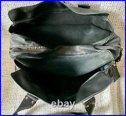 Super MULBERRY Large Mabel Black Darwin Leather Laptop Shoulder Bag