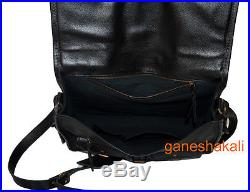 THICK HEAVY BAG! Men's Leather Business Briefcase Laptop Shoulder Messenger Bag