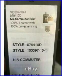 TUMI Stanton Nia Commuter Brief Black Leather Laptop Travel Tote Bag 79410 Women