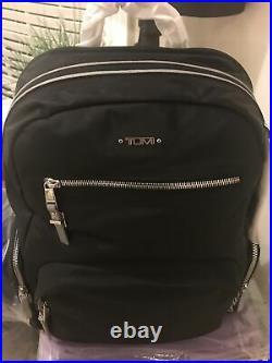 TUMI Voyageur Carson Backpack 196300 Reflective Black Travel Laptop Bag