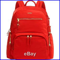 TUMI Voyageur Carson Laptop Backpack bag 15 Inch Computer Bag for Women red