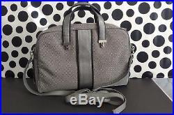 TUMI Women's Ballistic Nylon Gray Carry On/ Crossbody Slim Briefcase Laptop Bag