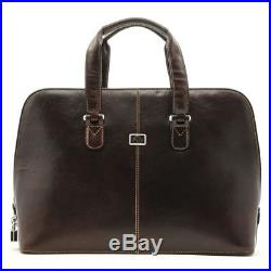Tony Perotti Classic Zip-Around Womens Leather Laptop Bag