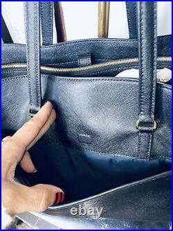 Tory Burch XL Black Robinson Tote Shopper Laptop Shoulder Bag