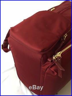 Tumi 484707 Voyageur Calais Backpack Laptop Bag Boarding Tote Red Burgundy Women