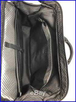 Tumi Alpha Bravo Norfolk Satchel Briefcase Laptop Bag Nylon Leather Black $345