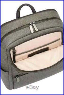 Tumi Becca Womens Stanton Backpack Earl Gray Business Laptop Travel Bag Rare