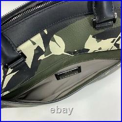 Tumi Landon Bradmoor Slim Leather Briefcase Laptop Bag Fern Leaf Print 93801FP