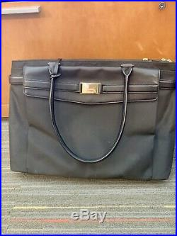 Tumi Larkin Hayward Triple Compartment Tote Women Business Laptop Bag Black