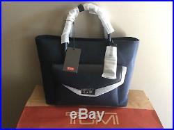 Tumi Navy Ballistic Nylon Small Tanya Tote Satchel Laptop Carry On Bag $345 NWT