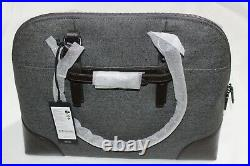 Tumi Nivelle 073130EG Women's Twill Business Laptop Case Bag, Grey/Brown $495