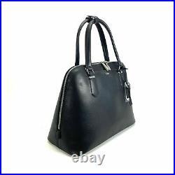 Tumi Stanton Deonne Domed Satchel Laptop Business Bag Black Leather $495 Retail