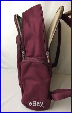 Tumi Voyageur Backpack Laptop Bag Boarding Tote Burgundy, Margarita, Calais Size