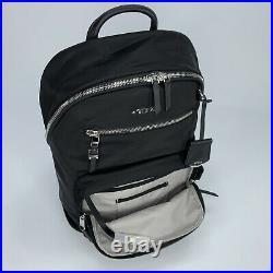Tumi Voyageur Hagen Women's Backpack Black with Silver Laptop Bag $375