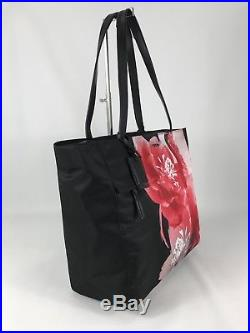 Tumi Voyageur Large M-Tote Laptop Carry-All Bag Black and Red Gallery Floral