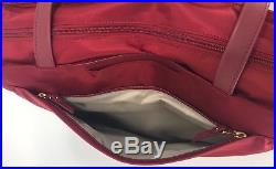 Tumi Voyageur Large M-Tote Laptop Carry-On Carry-All Bag Crimson Red 494766