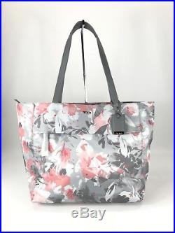 Tumi Voyageur Large M-Tote Laptop Carry-On Carry-All Bag Grey Pink Floral 494766