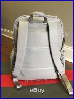 Tumi Voyageur Leather Calais Backpack Women Casual Laptop Bag 017000 Grey