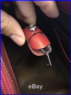 Tumi Women Villa Tote Laptop Purse Bag Deep Red