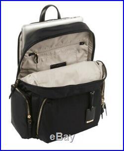Tumi Women's Voyageur Calais Backpack Black for Business Travel laptop bag AUTHE