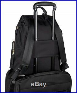 Tumi Women's Voyageur Rivas Laptop Backpack Black for Business Travellers bag