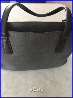 Tumi Womens Black Gray Travel Bag Laptop Carry On Luggage Attaché