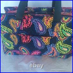 Twilight Paisley Vera Bradley Triple Compartment TRAVEL WORK SCHOOL Laptop Bag