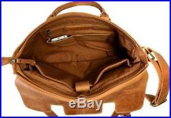 UF Genuine Leather Laptop Notebook Computer Shoulder Bag For Women & Men Hand
