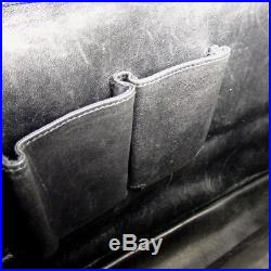 US SELLER Auth GUCCI Business Bag Leather Black Lap top Men Women G21BB82