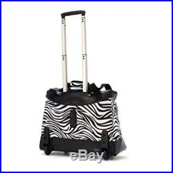 Underseat Rolling Tote Bag 18 In Laptop Travel Women Fashion Small Carry on Case