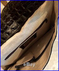 VEARI Genuine Hornback Crocodile Bag Purse Crossbody Messenger Laptop Men Women