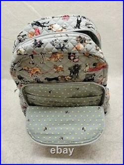Vera Bradley Best in Show Campus Large Backpack Bag Laptop Puppies Dogs New NWT