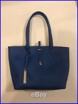 Vince Camuto Bag Cerulean Blue Women Leila Tote Saffiano Leather Laptop Purse